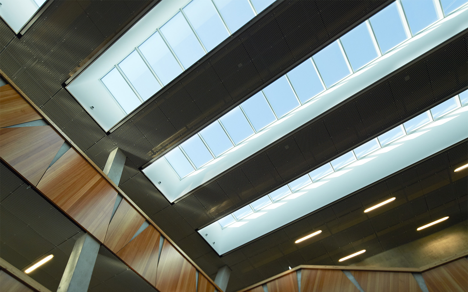 Skylights for thermal control in school building